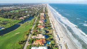 A gorgeous aerial view of Ponte Vedra Beach in Jacksonville, Florida
